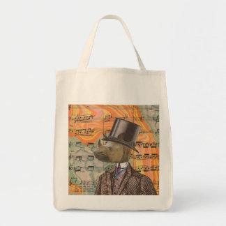 Rhino Gentleman tote Bags