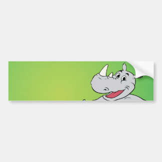 Rhino head bumper sticker