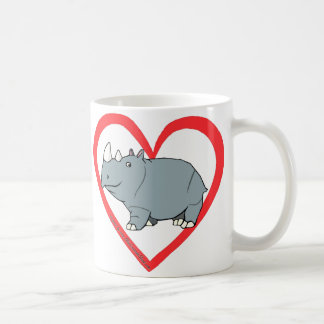 Rhino Heart Coffee Mug