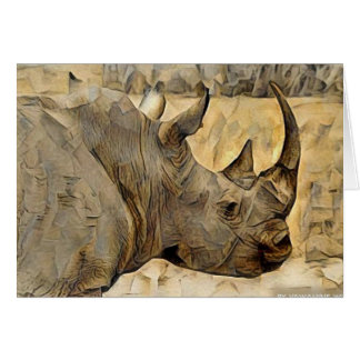 Rhino in Africa Card