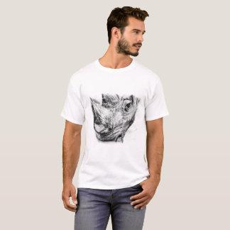 Rhino in charcoal T-Shirt