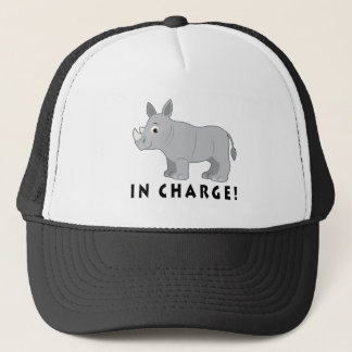 Rhino in Charge! Trucker Hat