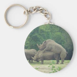 Rhino Love Key Ring