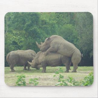 Rhino Love Mouse Pad