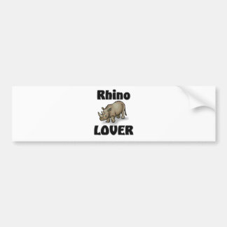 Rhino Lover Bumper Sticker