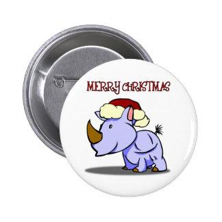 Rhino Merry Christmas Button