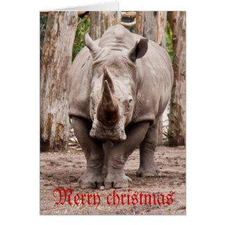Rhino merry christmas card
