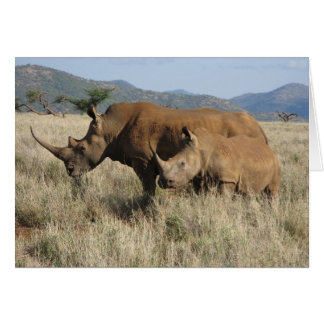 Rhino mom & baby card
