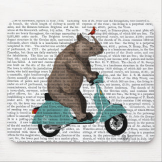 Rhino on Moped Mouse Mat