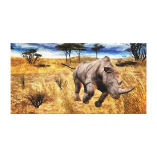 Rhino on the Sarengeti Canvas Prints