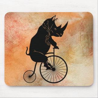 Rhino on Vintage Bike Mouse Mat