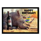 Rhino- Party Like a Winoceros Birthday Card