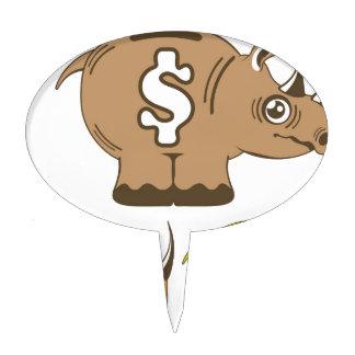 Rhino Piggy Bank vector Cake Topper