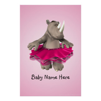 Rhino Pink Poster