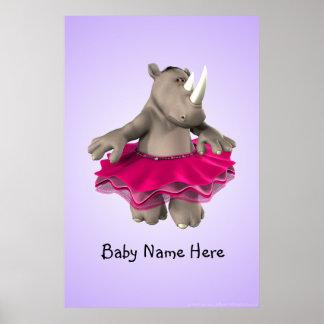 Rhino Purple Poster