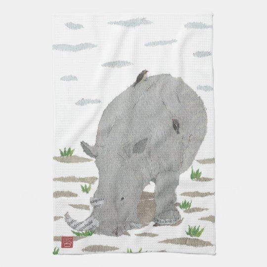 Rhino, Rhinoceros, Africa, Animal, Wildlife Hand Towel