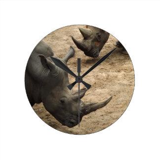 Rhino Round Clock