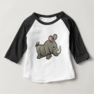 Rhino Safari Animals Cartoon Character Baby T-Shirt