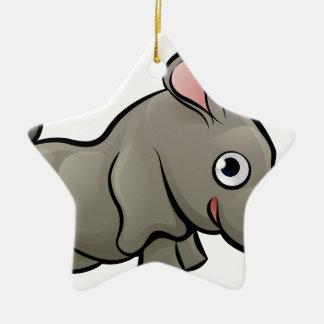 Rhino Safari Animals Cartoon Character Christmas Ornament