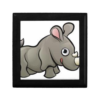 Rhino Safari Animals Cartoon Character Small Square Gift Box