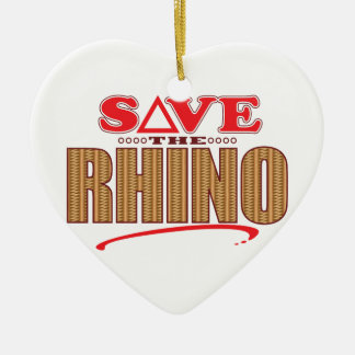Rhino Save Christmas Ornament
