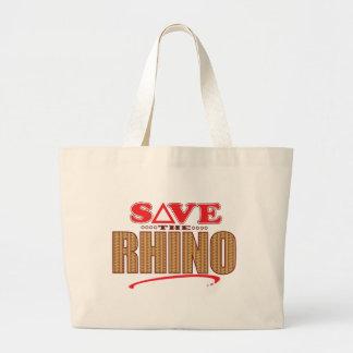 Rhino Save Large Tote Bag
