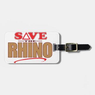 Rhino Save Luggage Tag