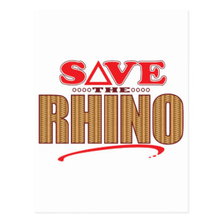 Rhino Save Postcard