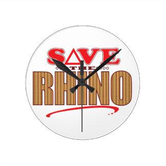 Rhino Save Round Clock