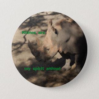 Rhino spirit animal button