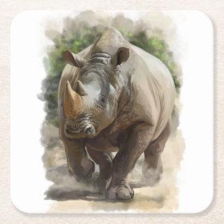 Rhino Square Paper Coaster