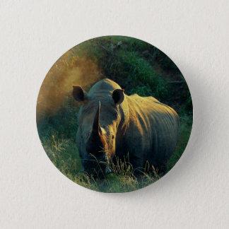 Rhino stare 6 cm round badge