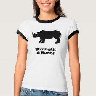 Rhino Strength And Honor black T-Shirt