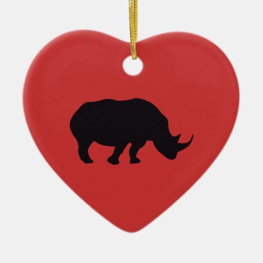 Rhino Vintage Wood Engraving Ornaments