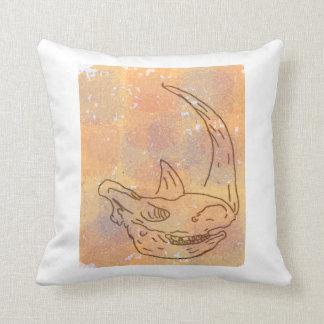 Rhino, watercolour earth red back cushion