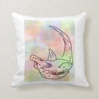 Rhino watercolour rainbow cushion