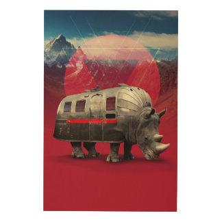 Rhino Wood Canvas