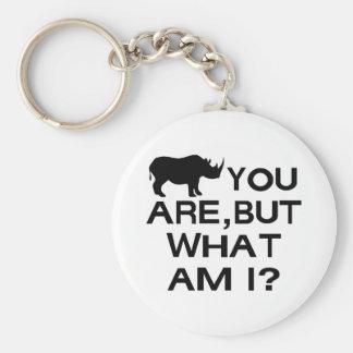 Rhino You Are Key Chains