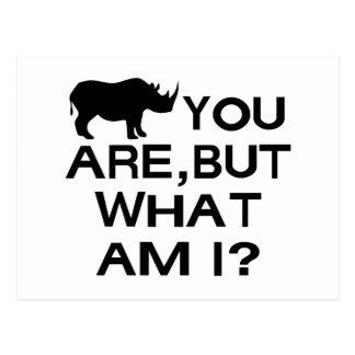 Rhino You Are Postcard