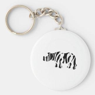 rhino zebra: Wild Mash-Up Key Ring