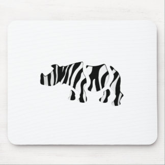 rhino zebra: Wild Mash-Up Mouse Mat