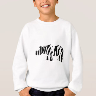 rhino zebra: Wild Mash-Up Sweatshirt