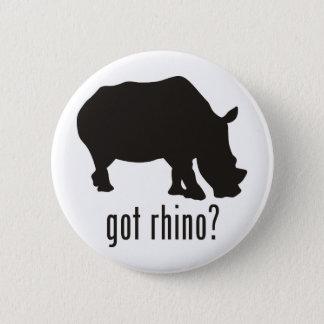 Rhinoceros 6 Cm Round Badge