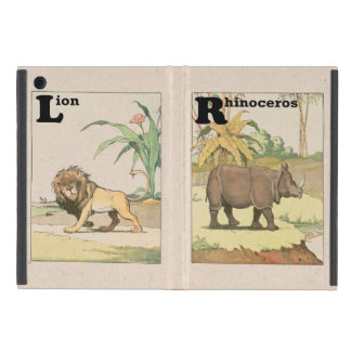 Rhinoceros and Lion Story Book Drawing Case For iPad Mini