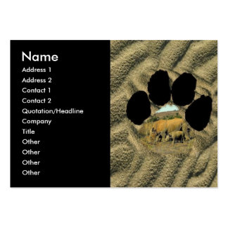 Rhinoceros and Reeds Footprint Business Card