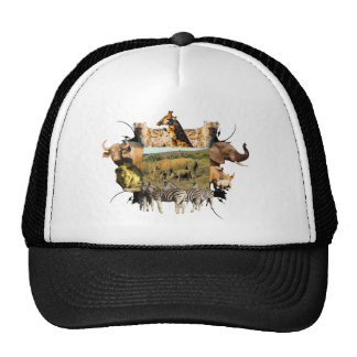 Rhinoceros and Reeds Wildlife Frame Trucker Hats