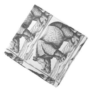 Rhinoceros antique woodcut for men do-rags