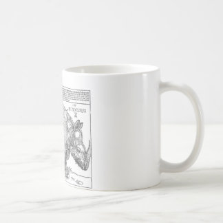 Rhinoceros by Albrecht Durer Coffee Mug