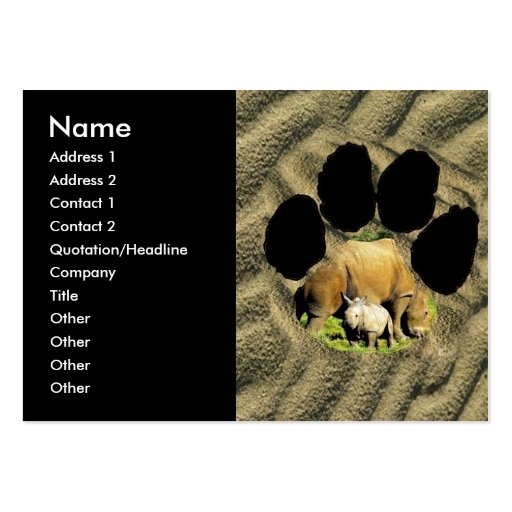 Rhinoceros calf Business Card