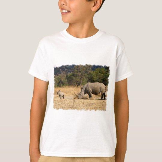 Rhinoceros Family Kid's T-Shirt